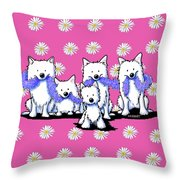 Sams And Westie Throw Pillow