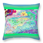 Beltaine Seashore Dreaming Throw Pillow