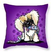 Pekingese Puppy Throw Pillow