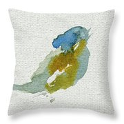 Abstract Bird Singing Throw Pillow