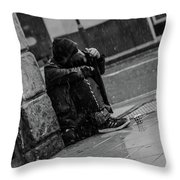Rainy Days Throw Pillow