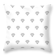 Pattern With Diamonds Throw Pillow