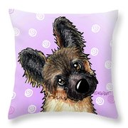 Kiniart Shepherd Puppy Throw Pillow