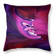Spectrum Of Emotion Anger Anticipation Throw Pillow by Kevin Middleton