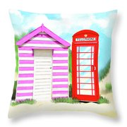 The Great British Summer Throw Pillow by Mark Tisdale