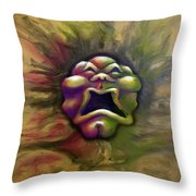 Spectrum Of Emotion Fear Discust Throw Pillow by Kevin Middleton