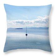 Sailboat Resting Throw Pillow