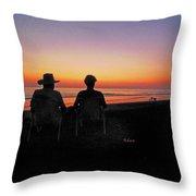 la Casita Playa Hermosa Puntarenas Costa Rica - Sunset Happy Couple Throw Pillow