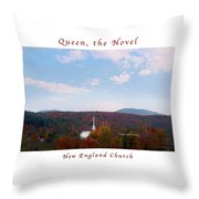 Image Included In Queen The Novel - New England Church Enhanced Poster Throw Pillow