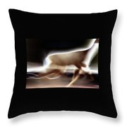 Running Doe Throw Pillow