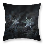 Snowflake Photo - When Winters Meets Throw Pillow