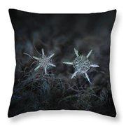 Snowflake Photo - When Winters Meets Throw Pillow