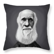 Celebrity Sunday - Charles Darwin Throw Pillow