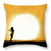 Child Of The Universe Throw Pillow by Mark Tisdale