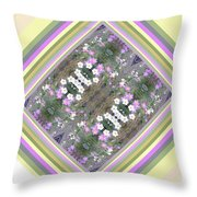 Hill Of Flowers Double Throw Pillow
