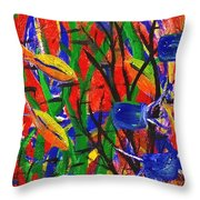 Wild Water In Red Throw Pillow