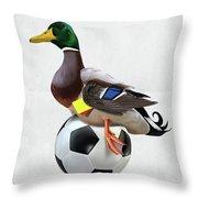 Fowl Wordless Throw Pillow