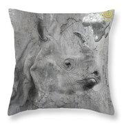 The Beautiful Rhino Throw Pillow