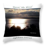 Image Included In Queen The Novel - Lighthouse Contrast Enhanced Poster Throw Pillow