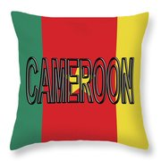 Flag Of Cameroon Word. Throw Pillow