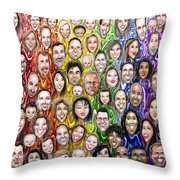 Interwoven Humanity Throw Pillow by Kevin Middleton