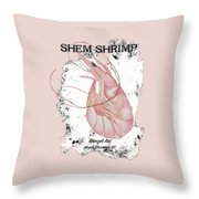 Shem Shrimp Throw Pillow