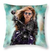 Steven Tyler On A Bike Throw Pillow