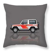 Mitsubishi Pajero Montero Shogun 3 Door Turbo Diesel Throw Pillow