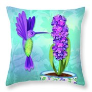 H Is For Hummingbird Throw Pillow