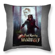 The Rage Of The Werewolf - Version 3 - Throw Pillow