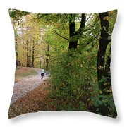 Autumn Bicycling Vertical One Throw Pillow