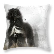 Black And Tan Afghan Hound In The Wind Throw Pillow