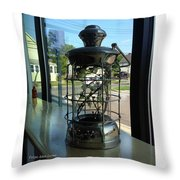 Image Included In Queen The Novel - Lantern In Window 19of74 Enhanced Poster Throw Pillow