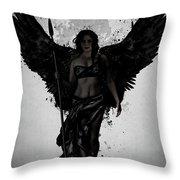 Dark Valkyrja Throw Pillow