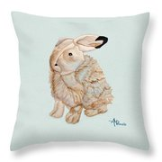 Cuddly Arctic Hare II Throw Pillow