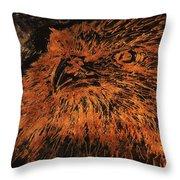 Eagle Metallic Copper Throw Pillow