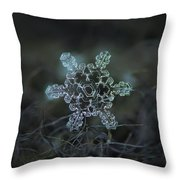 Real Snowflake - Slight Asymmetry New Throw Pillow