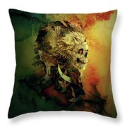 Skull Lord IIi Throw Pillow