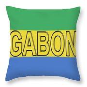 Flag Of Gabon Word. Throw Pillow
