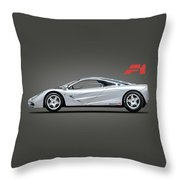 The F1 Supercar Throw Pillow