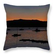 First Autumn Sunrise Freeze Throw Pillow