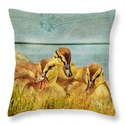 Wild Ducklings Throw Pillow