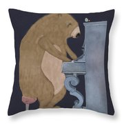 Boogie Bear  Throw Pillow