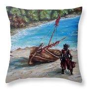 Treasure Bay Throw Pillow