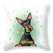 Dobie With Love Throw Pillow