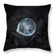 Drop Of Ice Rain Throw Pillow