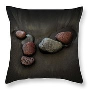 Black Sand Stones Throw Pillow