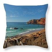 Praia Do Amado, Portugal Throw Pillow