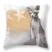 Sphynx No 04 Throw Pillow