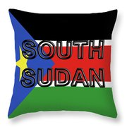 Flag Of  South Sudan Word Throw Pillow